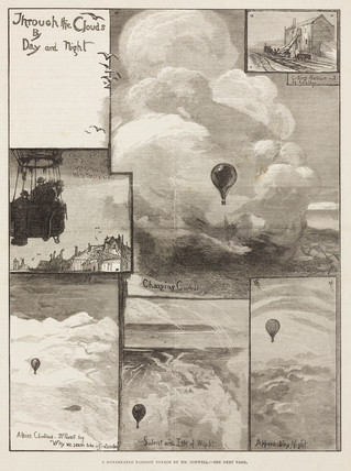 'A Remarkable Balloon Voyage by Mr Coxwell', 1881.