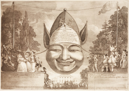 'An English Balloon', 1784.