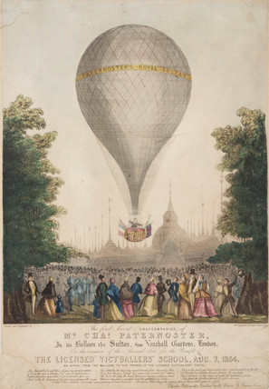 Paternoster's first balloon ascent, 1854.