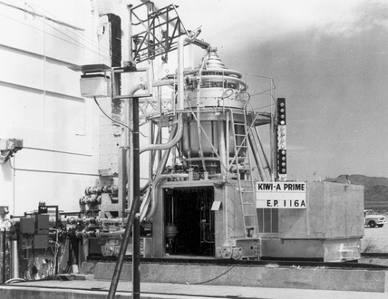 Kiwi-A Prime Atomic Reactor, Los Alamos, New Mexico, USA, 1960.