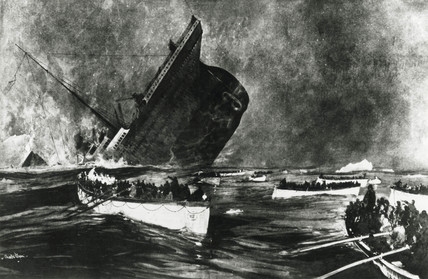Sinking of the 'Titanic', 14 April 1912.
