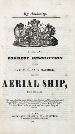 'aerial Ship, the Eagle', 1834-1835.