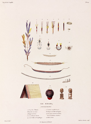 Jewellery, belts and other items from Birara (New Britain), 1822-1825.