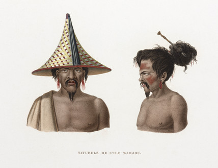 'Natives of the island of Waigiou', (Indonesia), 1822-1825.