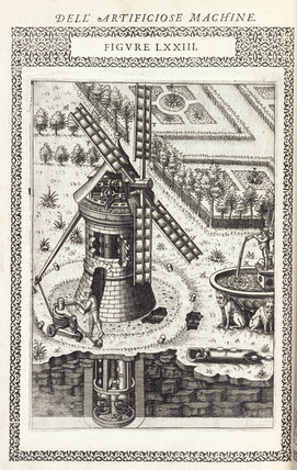 Windmill for raising water from a well, 1588.