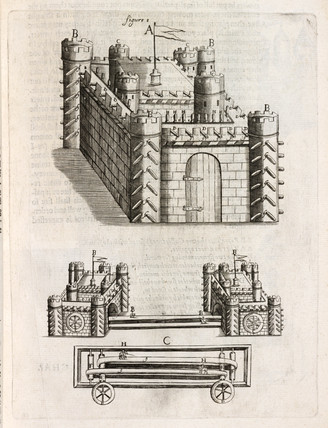 Artificial castle with fireworks, 1635.
