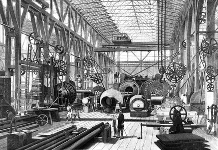 Penn's marine Engine Factory at Greenwich, London 1865.