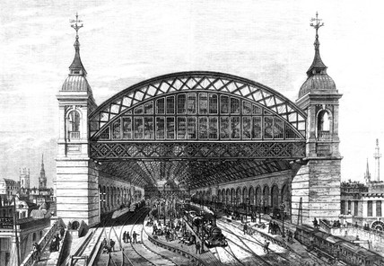 Terminus, Cannon Street Station, London, 1866.