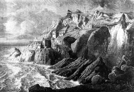 Botallack Mine, St Just, Penwith, Cornwall, 1872.