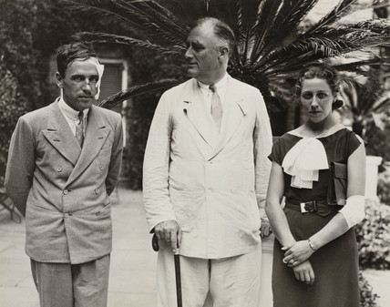 President Roosevelt with Jim and Amy Mollison (nee Johnson), 1933.
