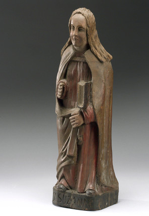 Wooden figure of Saint Suzanne, probably French, 1500-1700.