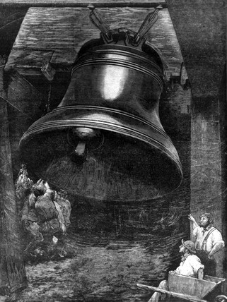 Testing bell for St Paul's Cathedral, 1882.