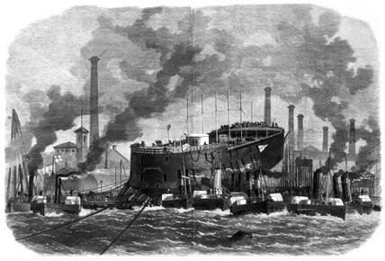 'Northumberland', launch attempt, 1866.