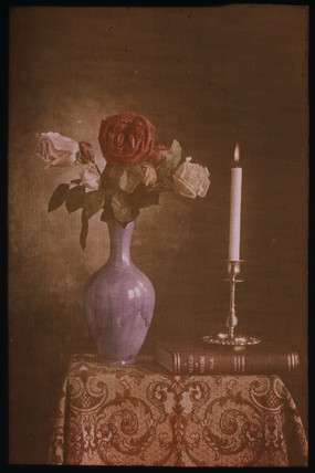 Sill life with candle, 1894-1933.