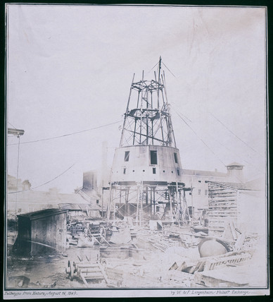 Lighthouse under construction, 1849.