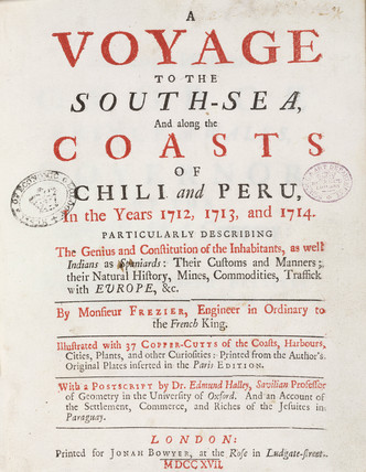 Title page to 'A Voyage to the South-sea', 1717.