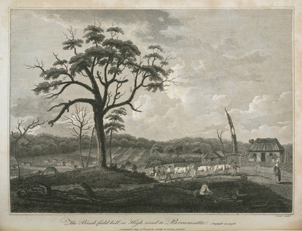 'The Brick-field-hill, or High road to Parramatta, 11 August 1796'.