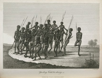 Aboriginal boys' initiation ritual, Australia, 1798.