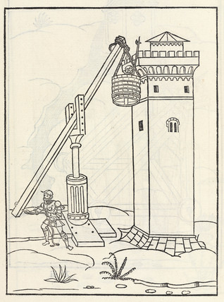 Mobile lift to asault a tower, 1534.