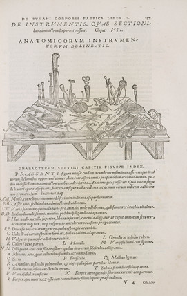 Instruments of disection, 1543.