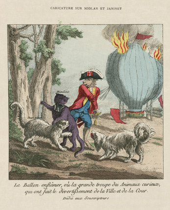 Miolan and Janinet's flaming balloon, late 18th century.