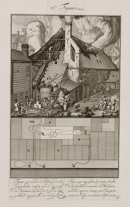 Fire at a soap factory, Amsterdam, Holland, 18 April 1682.