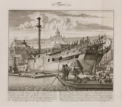 Fire-damaged ship, Oostenburg, Holland, 1690.