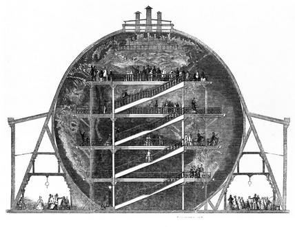 Wyld's Globe, Leicester Square, London, 12 July 1851.