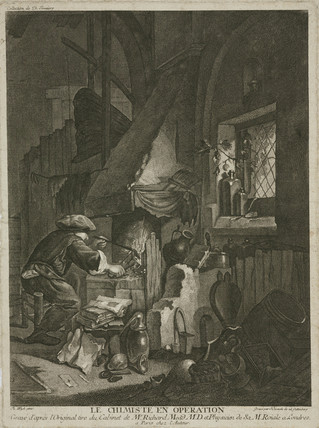 'The Chemist at Work', late 17th century.