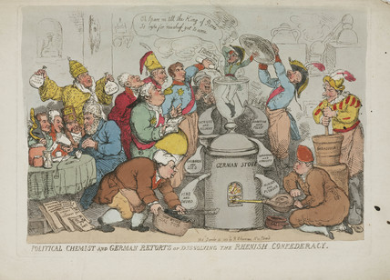 'Political chemist and German retorts...', 1814.