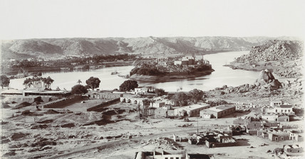 View of Aswan, Abu Simbel, Egypt, 1900-1901.