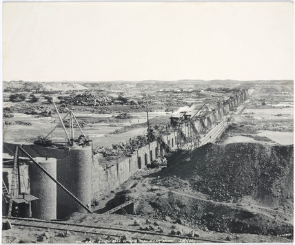 'South side of dam, from west bank', Aswan, Egypt, January 1902.