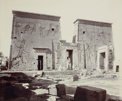 Ancient Egyptian temple buildings, c 1900.