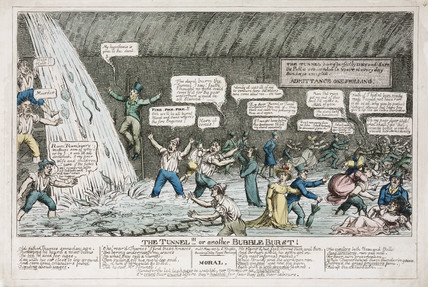'The Tunnel!!! or another Bubble Burst!', 1827.