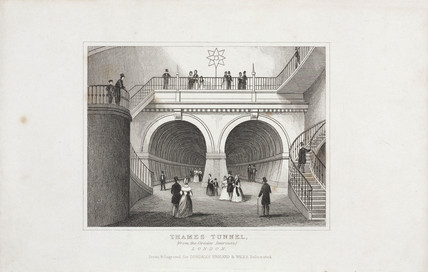 Thames Tunnel, London, c 1845.
