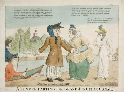 'A Tender Parting at the Grand Junction Canal', c 1810s.