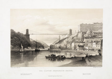 'The Clifton Suspension Bridge', Bristol, 1850s.