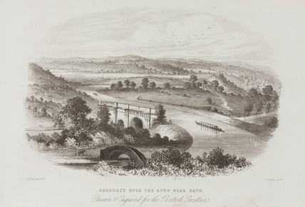 'Aqueduct over the Avon near Bath', c 1850.