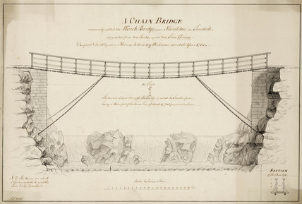 'A Chain Bridge', Middleton-in-Teesdale, Durham, 1753.