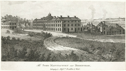 The Soho Manufactory near Birmingham, 1830.