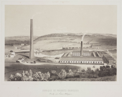 Chemical products factory, Floreffe, Belgium, 1830-1860.