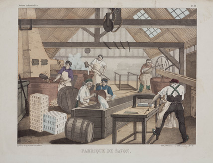 Soap factory, France, late 19th century.