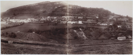 Panoramic view of a Welsh valley, 1893-1895.