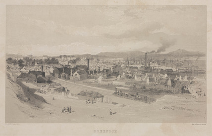 View of Greenock, Iverclyde, Scotland, c 1845.