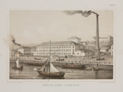 Rosenlunds Factory, Rosenlunds, Stockholm, Sweden, c 1840.
