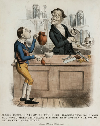 'Please Docor Natomy, do you cure haccidents...', 1830-1839.