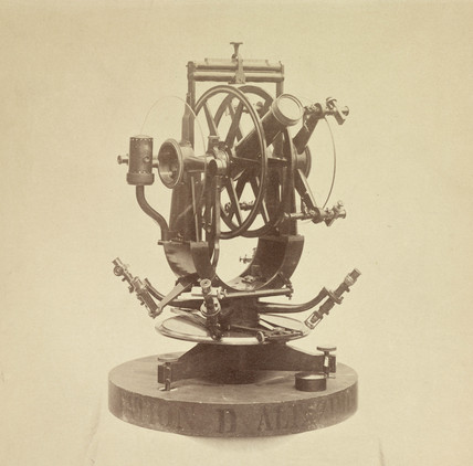 Transit of Venus portable altazimuth circle, 1876.