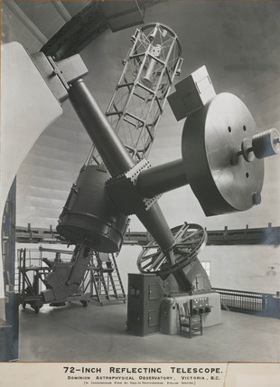 72 inch reflecting telescope, Victoria, British Columbia, Canada, 1920.