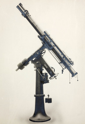 Equatorial telescope made by Thomas Cooke and Sons Limited, York, 1921.
