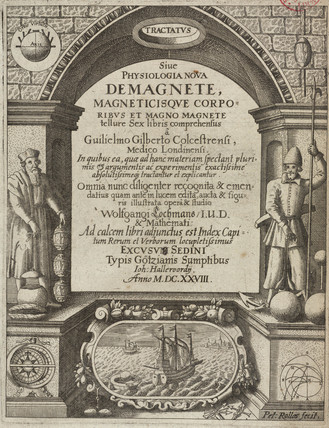 Title page from 'De magnete', 1628.
